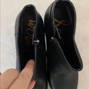 Sam Edelman Shoes - Sam Edelman Salina Black Leather Booties